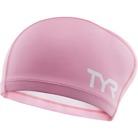 TYR Comfort Long Hair Silicone Cap Kinder pink